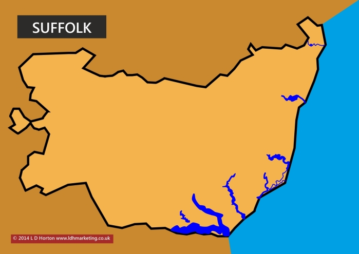 Suffolk Map outline version