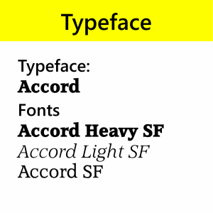 Typeface Accord