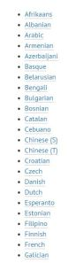 Language links to Google Translate
