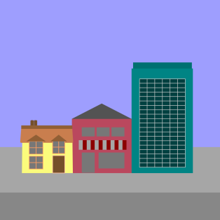Houses and offices graphic