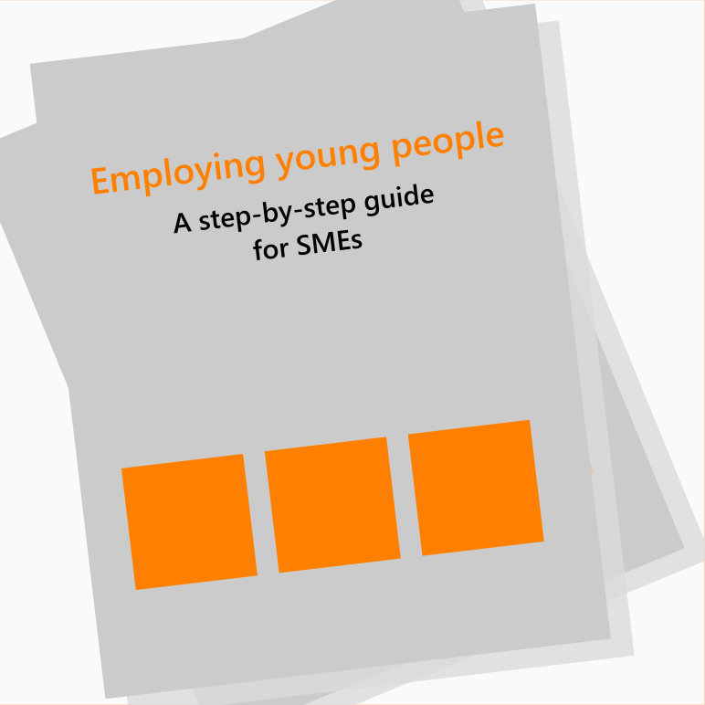Employing Young people mock cover graphic