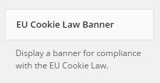 EU Cookie Law widget screenshot